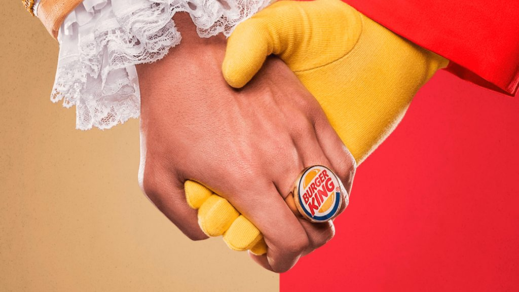 publicité burger king macdonalds
