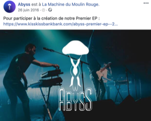 post campagne sur facebook abyss